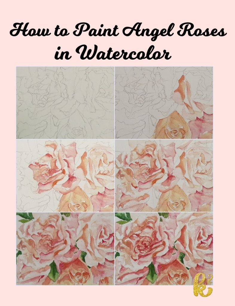 how to paint angel roses in watercolor , watercolor painting video