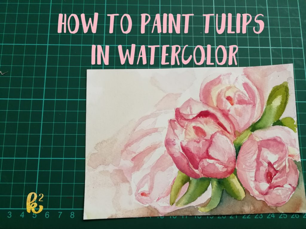 watercolors, watercolour, watercolor, katrinakarenart, watercolor tutorial, how to paint watercolors, easy watercolors, watercolors for beginners, katrinakarenart,painting step by step, watercolor tulips, how to paint tulips, how to paint flowers, flowers in watercolors, watercolor flowers, flower painting, tulip painting, tulips in watercolors, how to paint flower petals, flower petals in watercolors, how to paint wet on wet,
