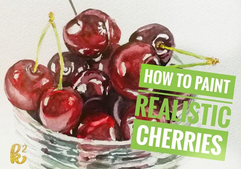 How to Paint Cherries in Watercolor